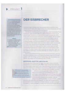 Erste Seite vom Projekt 1 Der Eisbrecher